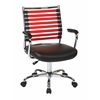 Office Star Randal Office Chair With Black Fabric & Red Elastic Straps