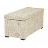 Office Star Sahara Tufted Storage Bench (Script Fabric)