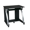Office Star Computer Cart (Black with Silver)
