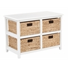 Office Star Seabrook Two-Tier Storage Unit With White Finish and Natural Baskets