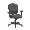 Task Chair with Saddle Seat and Adjustable Soft Padded Arms