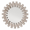 Office Star Apollo Glass Round Deco Wall Mirror