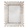 Office Star Empire Rectangle Wall Mirror with Glass Frame