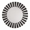 Office Star The Jazz Note Round Wall Mirror with Black Glass