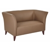 Taupe Faux Leather Love Seat