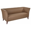 Taupe Faux Leather Sofa