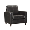 Office Star Espresso Eco Leather Club Chair with Espresso Finish Legs