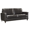 Office Star Espresso Eco Leather Sofa with Espresso Finish Legs
