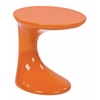 Office Star Slick Side Table with High Gloss Orange Finish by Ave Six