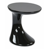 Office Star Slick Side Table with High Gloss Black Finish by Ave Six