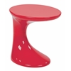 Office Star Slick Side Table with High Gloss Red Finish by Ave Six