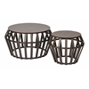 Office Star Solana 2 Piece Set Round Accent Tables