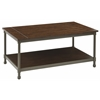 Office Star Sullivan Coffee Table with Pewter & Walnut Finish