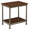 Office Star Sullivan End Table with Pewter & Walnut Finish