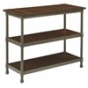 Office Star Sullivan Foyer Table with Pewter & Walnut Finish