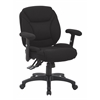 Office Star Black Fabric Multifunction Office Char, KD