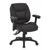 Office Star Black Faux leather Multifunction Office Chair, KD