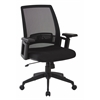 Office Star Black Office Chair with arms, adjustable height and nylon Base