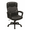 Office Star Black Bonded Leather Office Chair