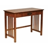 Office Star Sierra Writing Desk in Oak FInish with Pull out Drawer and Solid Wood Legs