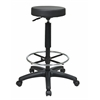 "Office Star Pneumatic Drafting Chair. Backless stool with Nylon Base and Adjustable Foot Ring. Height Adjustment 25"" to  35""."