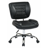 Office Star Armless Task Chair (Black)