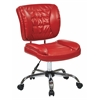Office Star Armless Task Chair (Red)