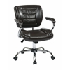 Office Star Task Chair Faux Leather (Espresso)