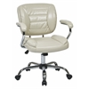 Office Star Task Chair Faux Leather (Cream)