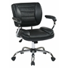 Office Star Task Chair Faux Leather (Black)