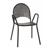 Office Star 2-Pack Black Steel Stacking Chairs. Assembled.