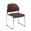 Office Star 4 Pack Stack Chair with Plastic Seat and Back