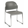 Office Star 2-Pack Stack Chair with Plastic Seat and Back