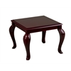 Mahogany Finish Queen Ann Traditional End Table