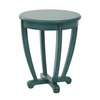 Office Star Tifton Round Accent Table Blue Finish,