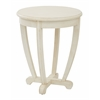 Office Star Tifton Round Accent Table Cream Finish,