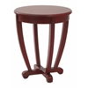 Office Star Tifton Round Accent Table Red Finish,