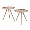 Tiffany Side Table with Brushed Copper Plate finish ( 2-Pack)