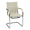 Office Star Trinidad Guest Chair in Cream Vinyl