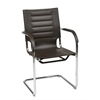 Office Star Trinidad Guest Chair in Espresso Vinyl