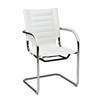 Office Star Trinidad Guest Chair in White Vinyl