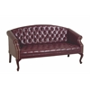 Office Star Queen Ann Traditional Ox Blood Sofa