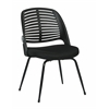 Office Star Tyler Visitor Chair With Black Frame and Black Fabric, No Arms