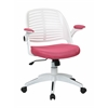 Office Star Tyler Office Chair With White Frame And Pink Fabric