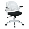 Office Star Tyler Office Chair With White Frame And Black Fabric