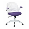Office Star Tyler Office Chair With White Frame And Purple Fabric