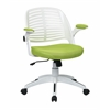 Office Star Tyler Office Chair With White Frame And Green Fabric