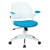 Office Star Tyler Office Chair With White Frame And Blue Fabric