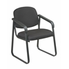 Office Star Deluxe Sled Base Arm Chair with Designer Plastic Shell