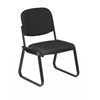 Office Star Deluxe Sled Base Armless Chair with Designer Plastic Shell